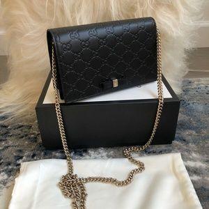 Gucci Black Guccissima Leather Mini Wallet